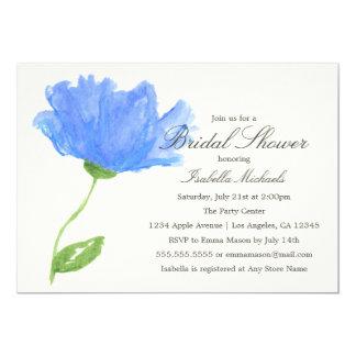 Blue Floral | Bridal Shower Invitation