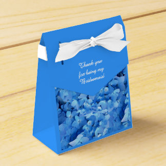 Blue Floral Bridesmaid Thank You Favor Box