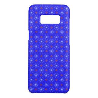 Blue Floral Circles Case-Mate Samsung Galaxy S8 Case