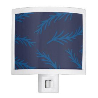 Blue Floral Design Night Light