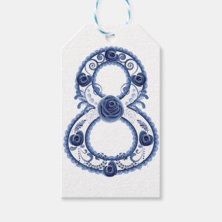 Blue Floral Eight2 Gift Tags
