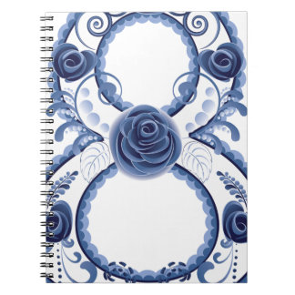 Blue Floral Eight2 Notebooks