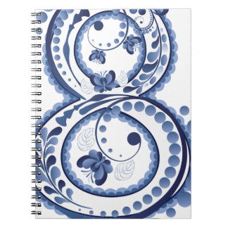 Blue Floral Eight3 Notebook