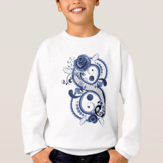 Blue Floral Eight Sweatshirt