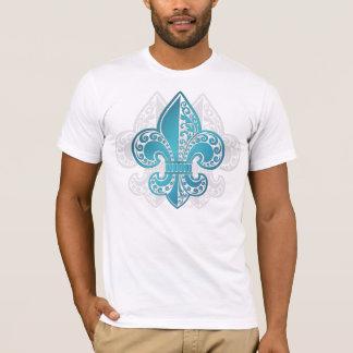 Blue Floral Fleur #3 T-Shirt