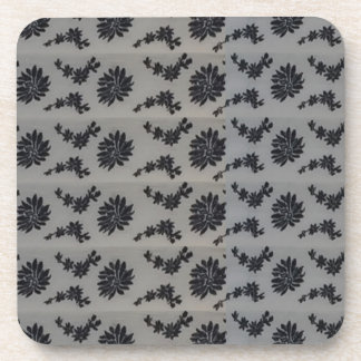 Blue Floral graphic background DIY add text image Coasters