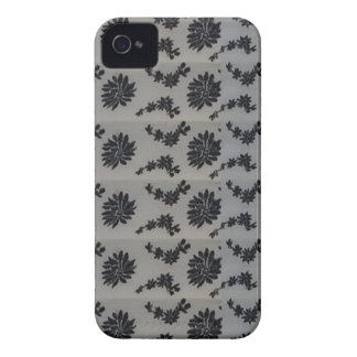 Blue Floral graphic background DIY add text image iPhone 4 Cover