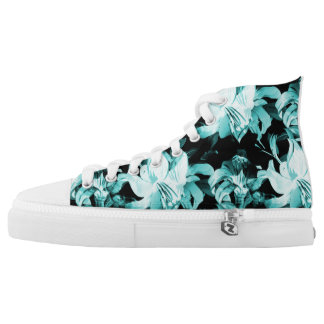 Blue Floral High Tops