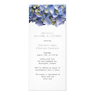 Blue Floral Jack and Jill Wedding Shower Card