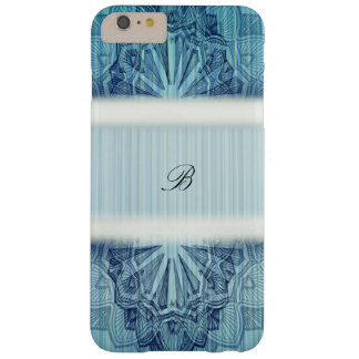 Blue Floral Monogram Barely There iPhone 6 Plus Case