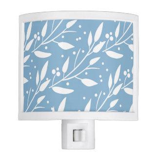 Blue Floral Night Light
