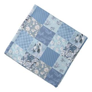 Blue Floral Patchwork Bandana