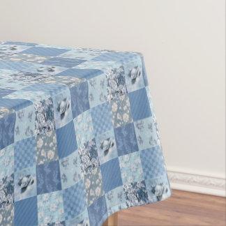 Blue Floral Patchwork Tablecloth