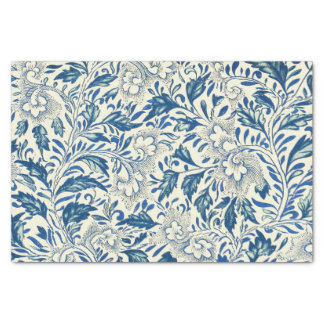 Blue floral Pattern Antique Vintage Tissue Paper