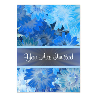 Blue floral pattern any occasion card