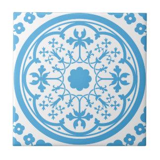 Blue Floral Pattern Ceramic Tiles