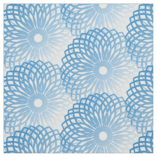 Blue Floral Pattern Fabric