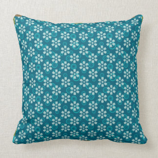 blue floral pattern pillow