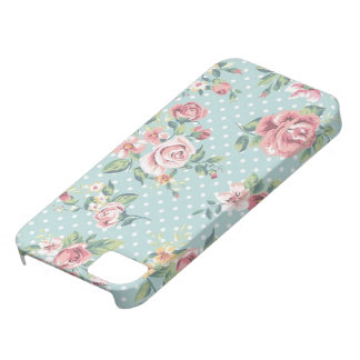 Blue Floral Polka Dot Case For The iPhone 5