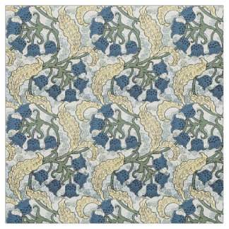Blue Floral Repeating pattern Fabric
