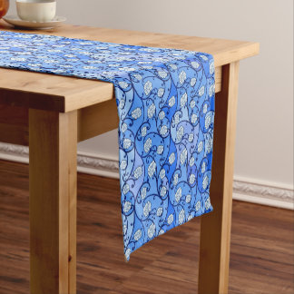 Blue Floral Table Runner