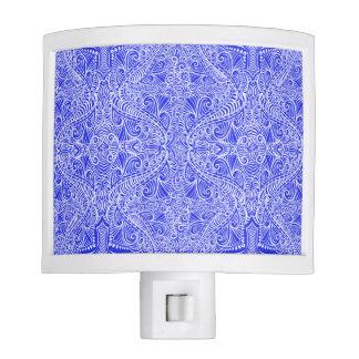 Blue Floral twists Night Lite