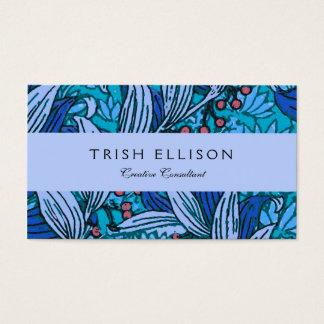 Blue Floral Vintage Business Card
