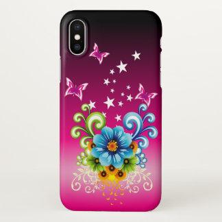 Blue Floral Zazzle iPhone X Case