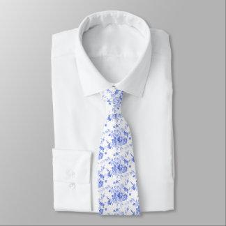 Blue Florale Print Tie