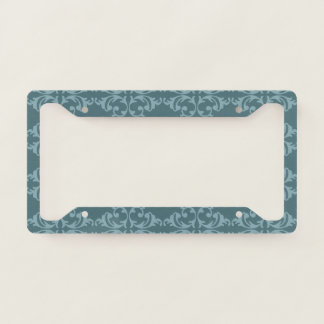 Blue Florish License Plate Frame