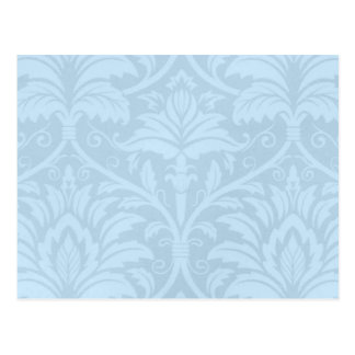 Blue Flourish Postcard