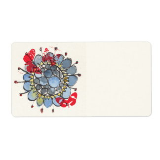 Blue Flower 1 Shipping Label