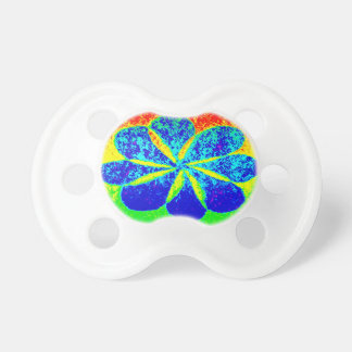 blue flower baby pacifiers