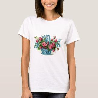 Blue Flower Basket T-Shirt