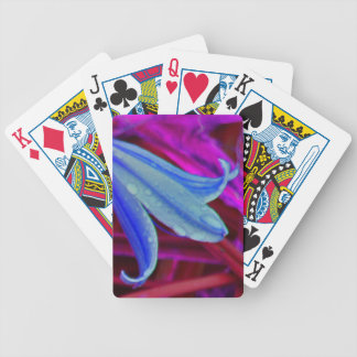 Blue Flower Bicycle Playing Cards