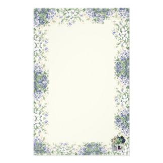 Blue Flower Birdhouse-Stationary Stationery