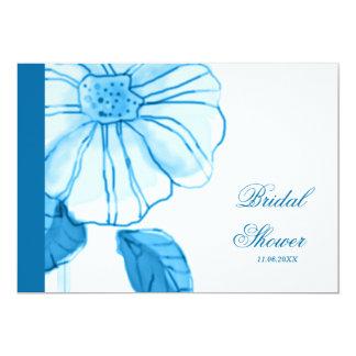 Blue Flower Bridal Shower Invitations