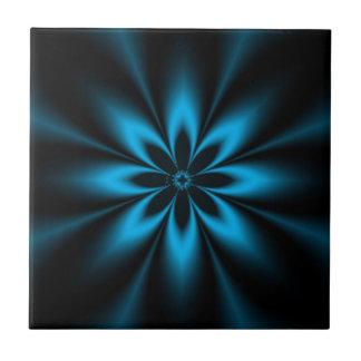 Blue Flower Burst Tile