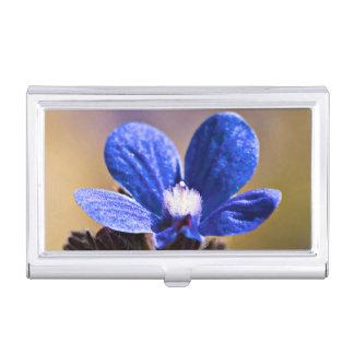 Blue Flower Business Card Holder