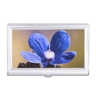 Blue Flower Case For Business Cards