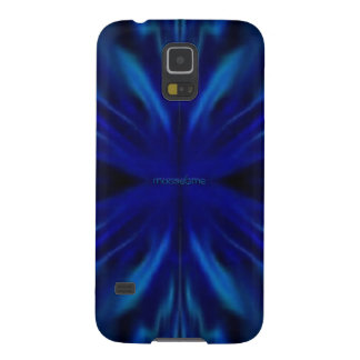 Blue Flower Center Case For Galaxy S5