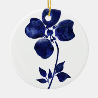 Blue Flower Ceramic Ornament