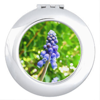 Blue Flower Compact Mirror - Grape Hyacinth