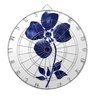 Blue Flower Dartboard