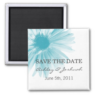 Blue Flower Design  Wedding Save The Date Magnets
