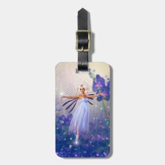 Blue Flower Fairy Luggage Tag
