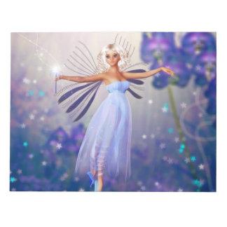 Blue Flower Fairy Notepad