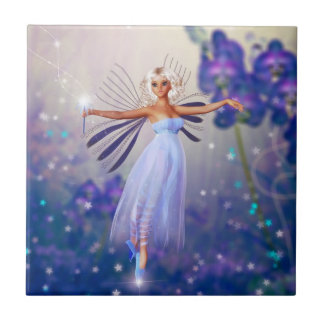 Blue Flower Fairy Tile