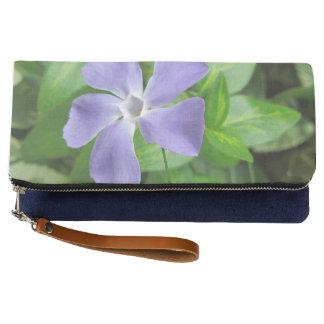 Blue Flower Fold-Over Clutch Bag