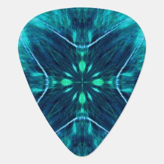 Blue Flower Fractal Design Guitar Pick